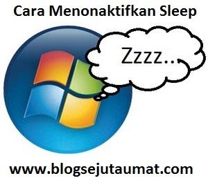 Cara Menonaktifkan Fitur Sleep pada Windows