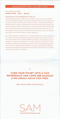 Gauguin & Polynesia – Exhibition Guide – Brochure for the Seattle Art Museum Exhibition