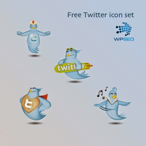 4 Free Twitter Icons