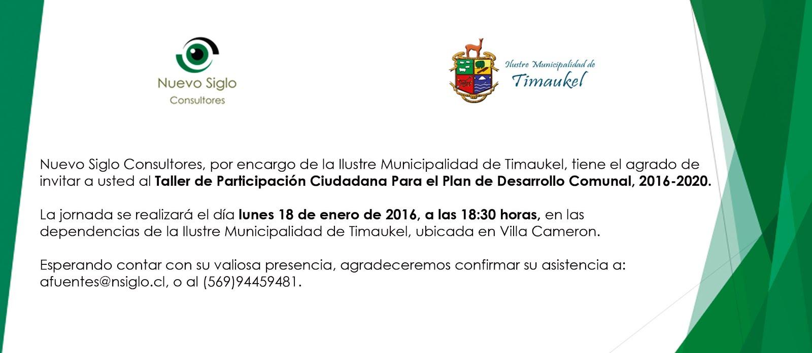18 Enero Taller Participacion Ciudadana pladeco 2016 -2020