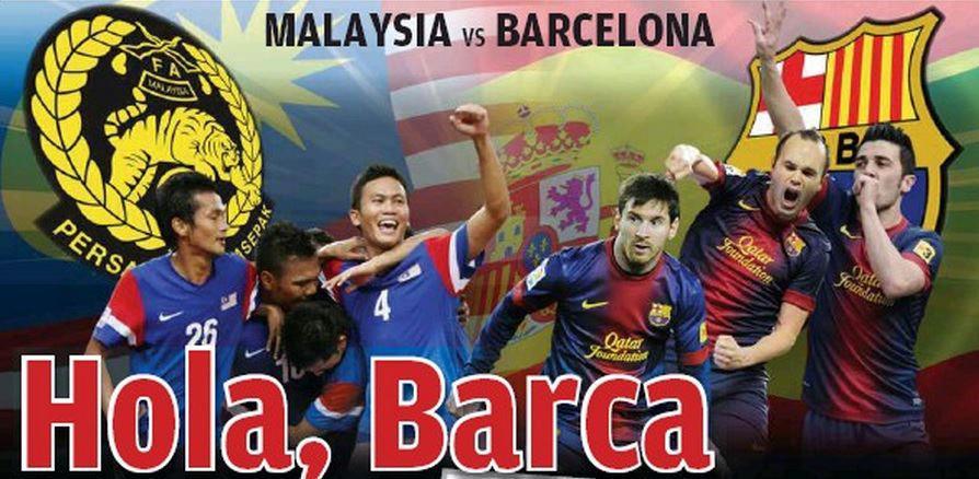 Senarai Barisan Pemain Kebangsaan Malaysia XI vs Chelsea | Barcelona
