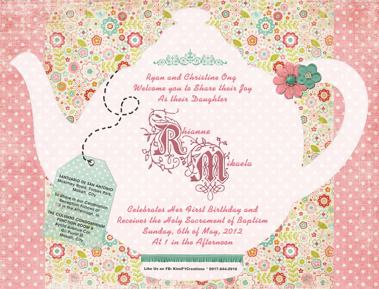 Watch more like Church Tea Party Invitation – Afternoon Tea Party Invitation