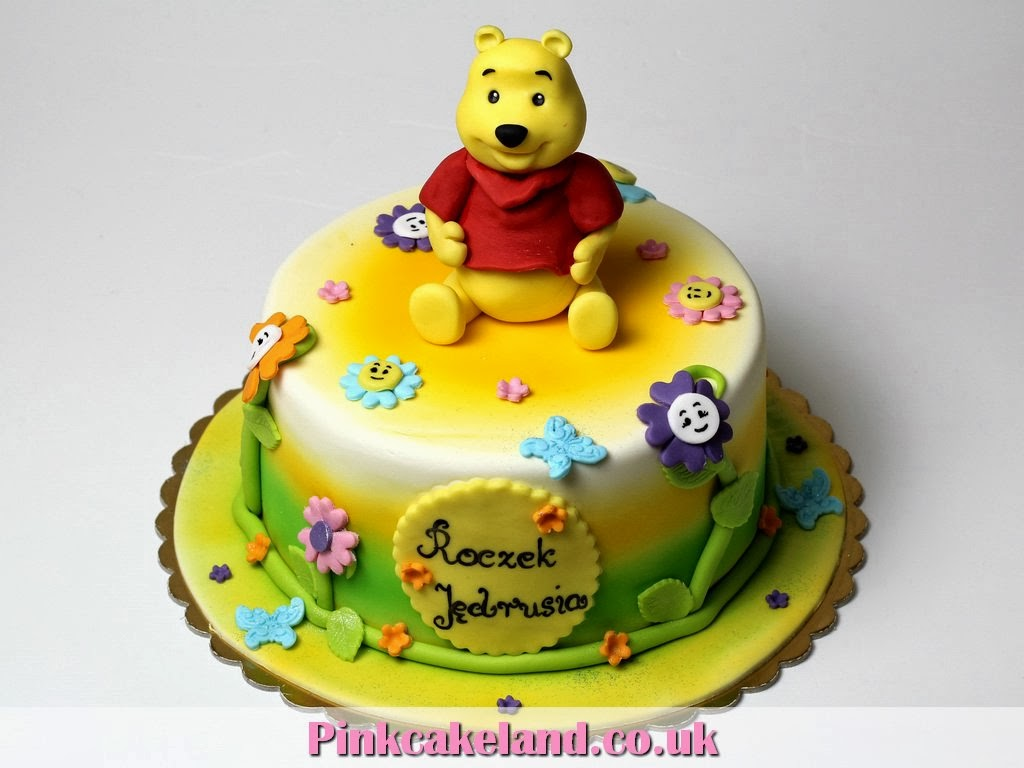 London Patisserie Birthday Cake Winnie The Pooh