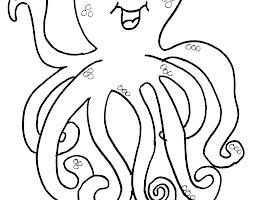 Preschool Octopus Coloring Pages