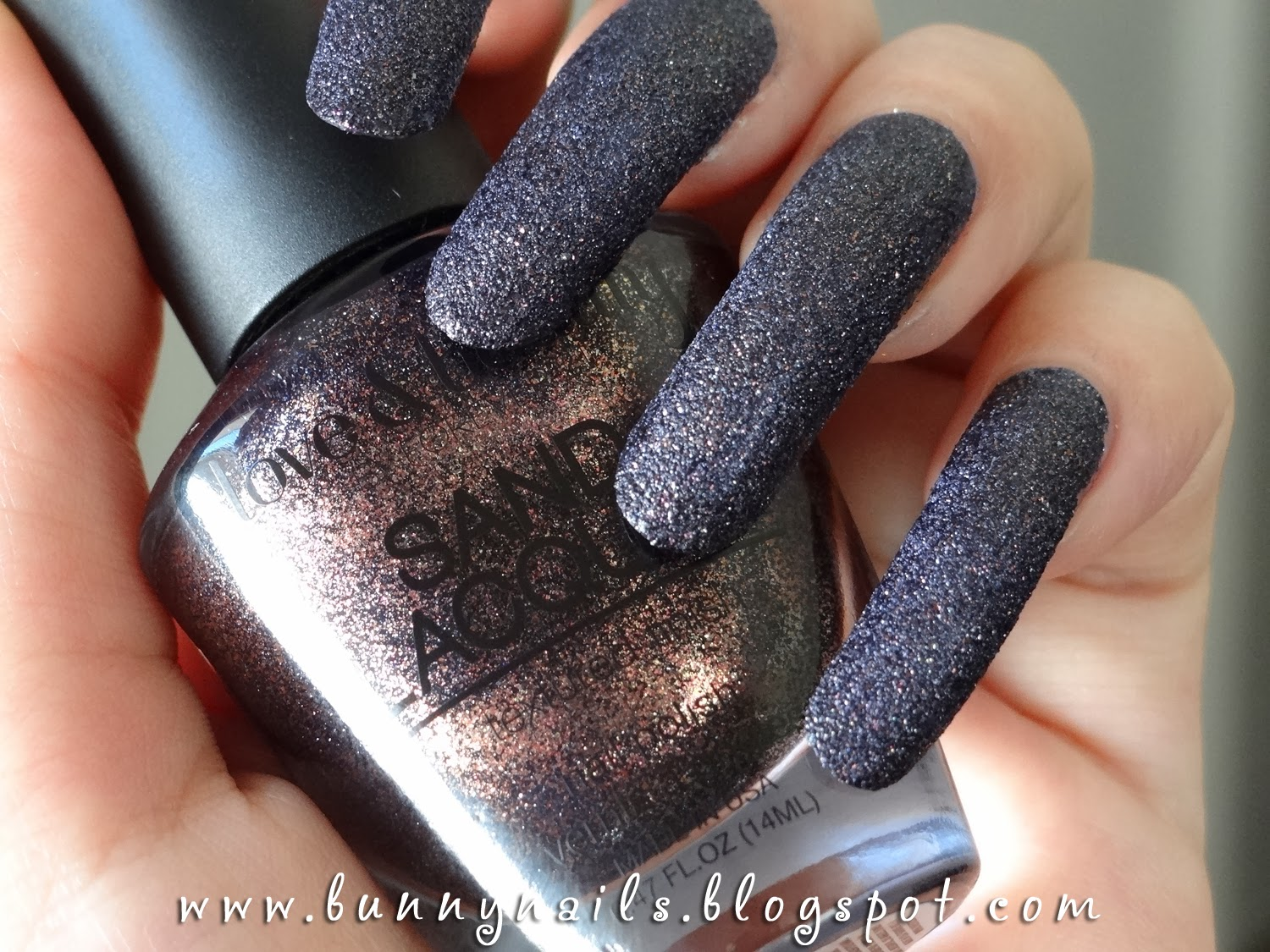 Line Texture On Nails : Bunny nails forever black glam sand lacquer textured