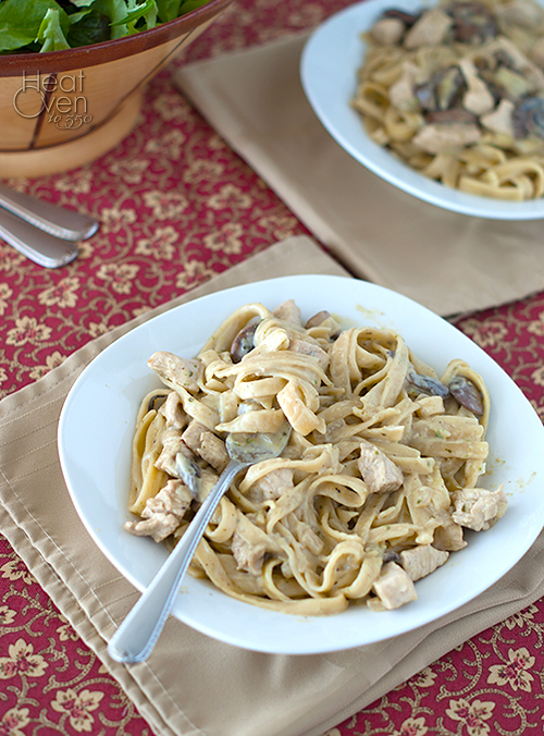 Basil Cream Chicken Pasta