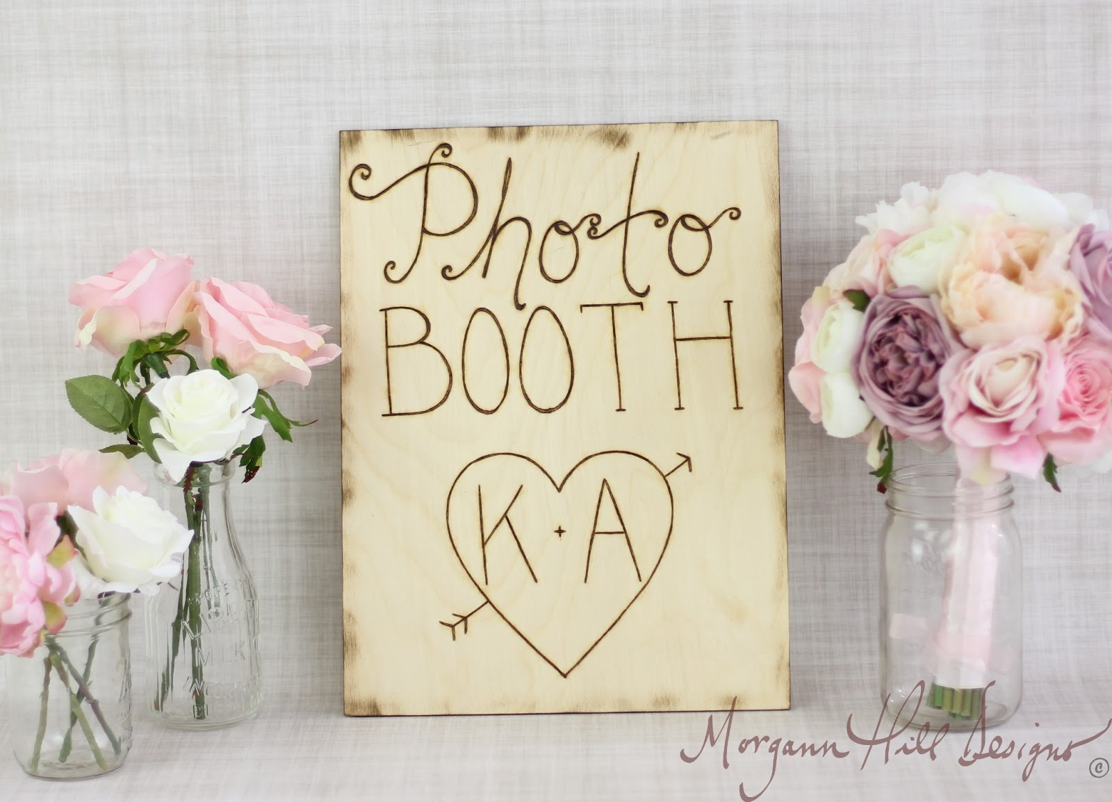 Morgann Hill Designs: Personalized Rustic Photo Booth Sign Barn ...