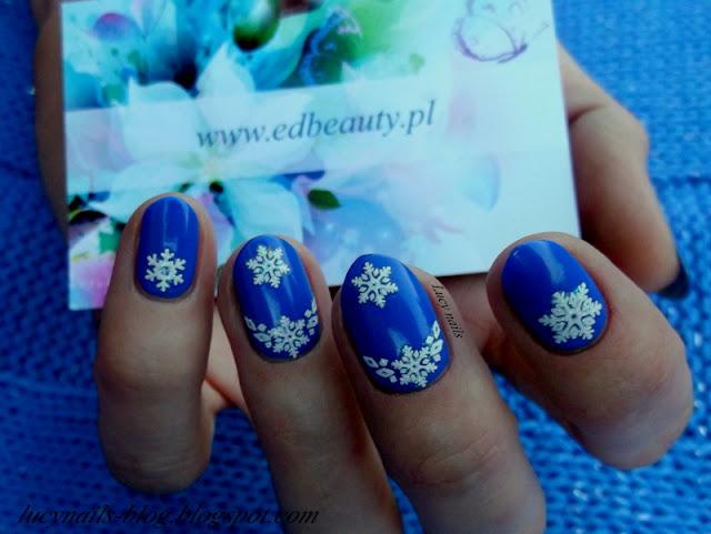 Naklejki śnieżynki od EDbeauty-Profesjonalne ozdoby do paznokci