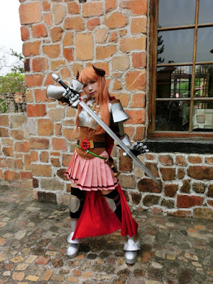 Knight cosplayer at Xinshe Castle