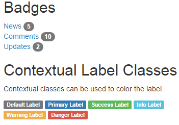 Infallible Techie: Bootstrap Badges and Labels