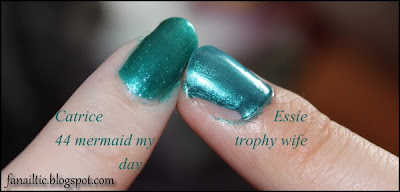 Catrice 44 Mermaid my Day vs essie Trophy Wife