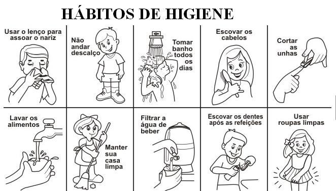 Coloreal los habitos de higiene personal - Imagui
