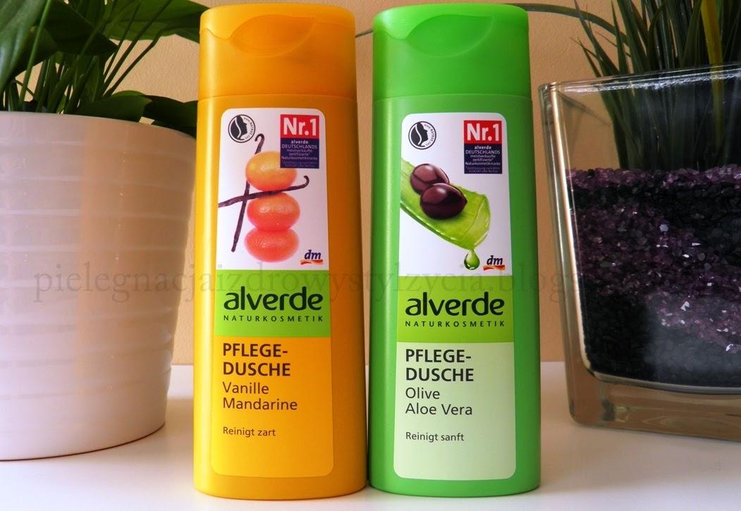 Żele pod prysznic Alverde: manarynka z wanilią i oliwka z aloesem
