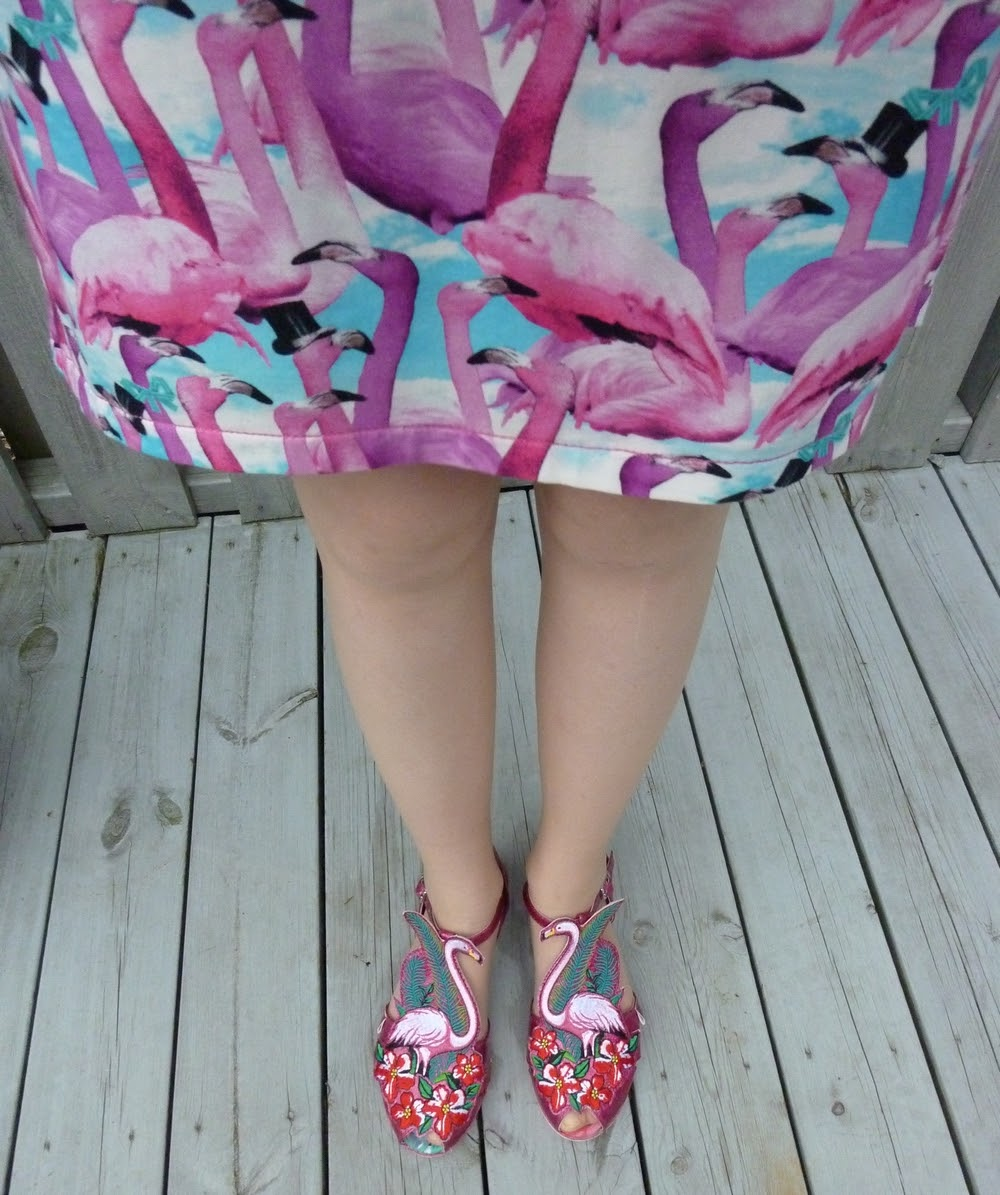 fa99f3e2c2b Sandals from Miss Lfire (recent). A close up of the flamingo sandals