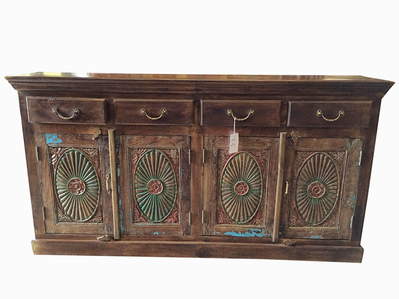 Indian wooden furnitures antique sideboard india for Sideboard indien