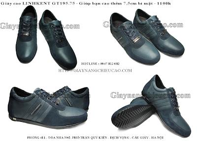 Giày nam cao Linh Kent GT195. 75