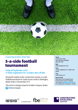 5-a-side football tournament