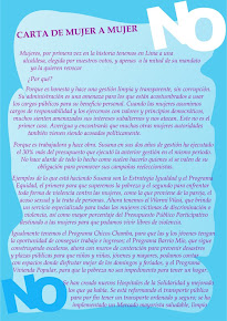 Carta de Mujer a Mujer