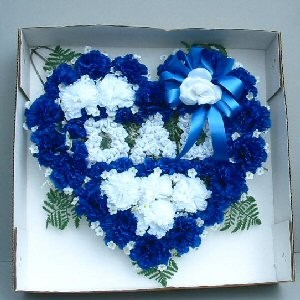 Silk Flower Dad Heart for the Cemetery