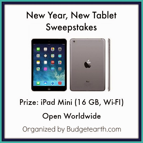Enter the New Year, New Tablet Giveaway. Ends 1/11