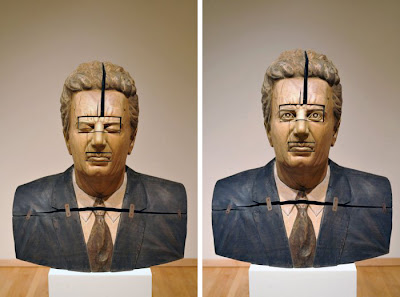 Stu - Bob Trotman; 2004; wood, tempera, wax, steel; Photos courtesy of the North Carolina Museum of Art