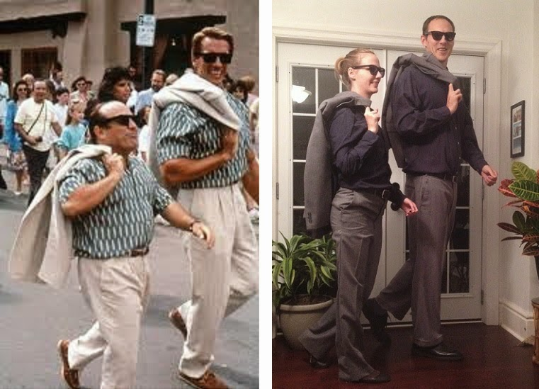 Tall Specific Halloween Costume for Couples: Movie Twins