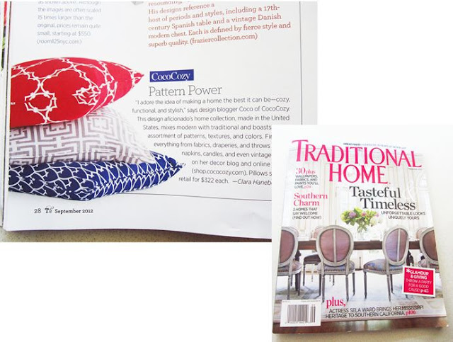 COCOCOZY Pillows in Traditional Home Magazine
