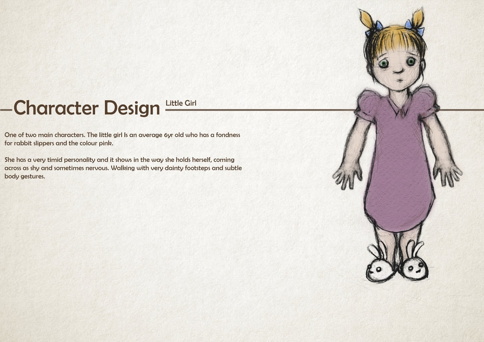 Character Design Documentary : Final film character design sheets