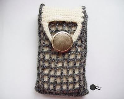 Nowy model...etui szydełkowe na telefon.