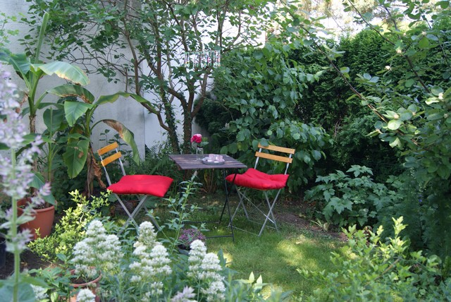 kleine sitzecken im garten – bankroute, Garten und Bauten