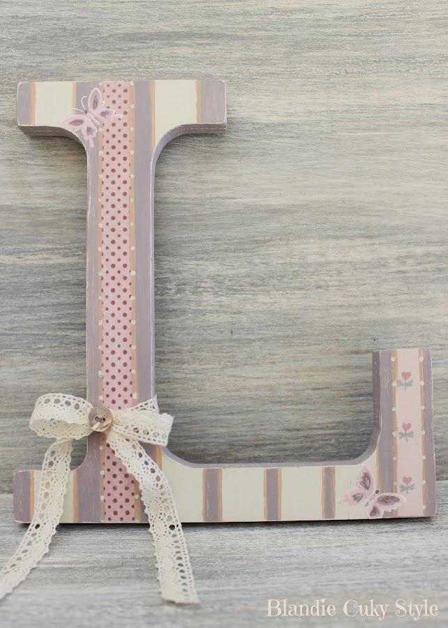 Hacer letras de madera - Como decorar letras de madera ...