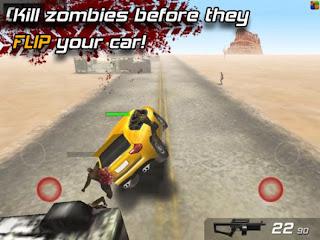 صورة من داخل لعبة Zombie Highway