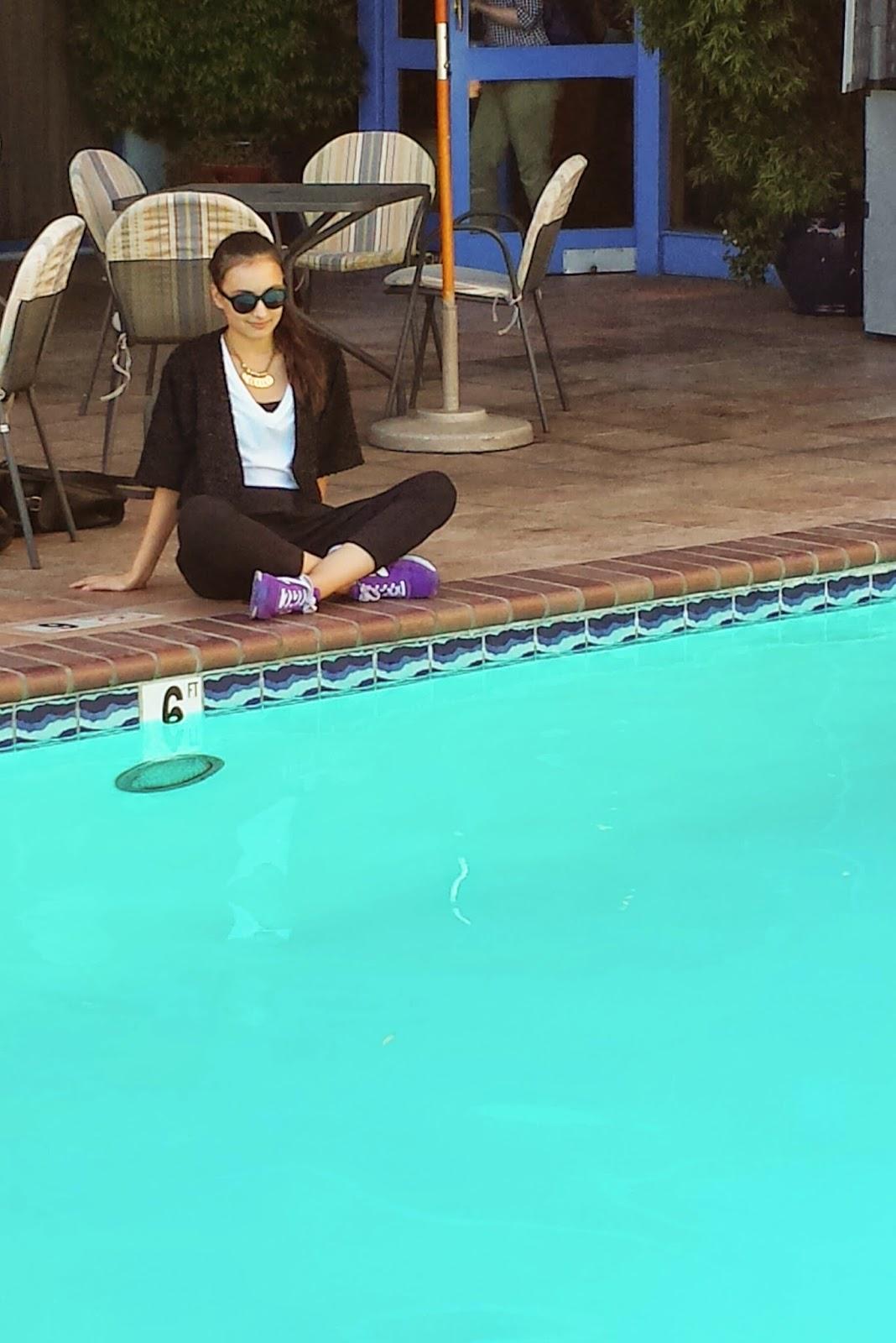 Pool, The Waterfront Hotel, Audrey Sides, Fashion BLogger, Fashion Blog, Fashion, Wasian, Oakland, Jack London Square, San Francisco, Bay Area, SF Fashion Blogger,