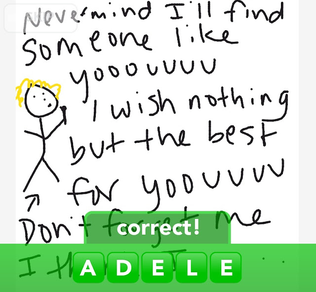 drawing of adele