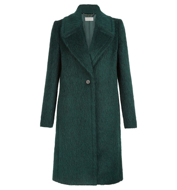 hobbs green wool coat, ennis coat,