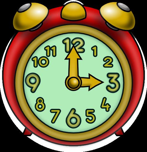 Los PEQUES de Primaria: El reloj Colorful Clock Clip Art