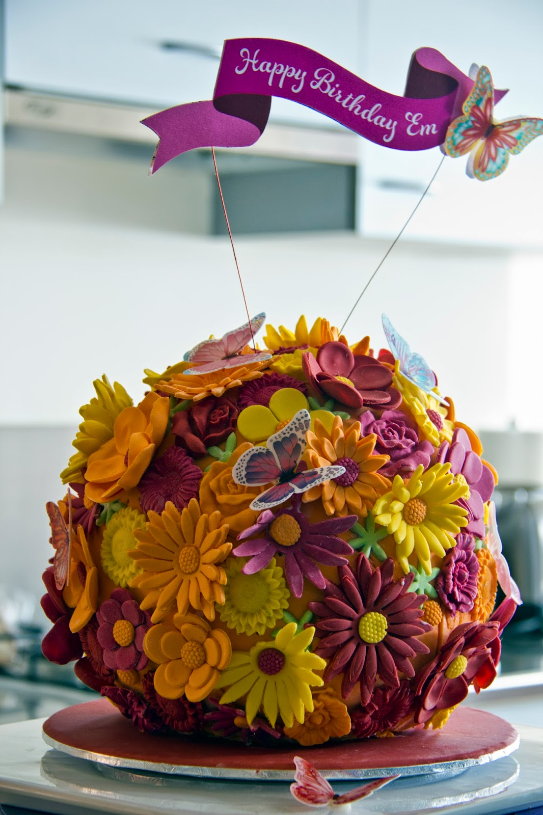 The Food Collective Raving Recipes Kissing Ball Birthday Cake