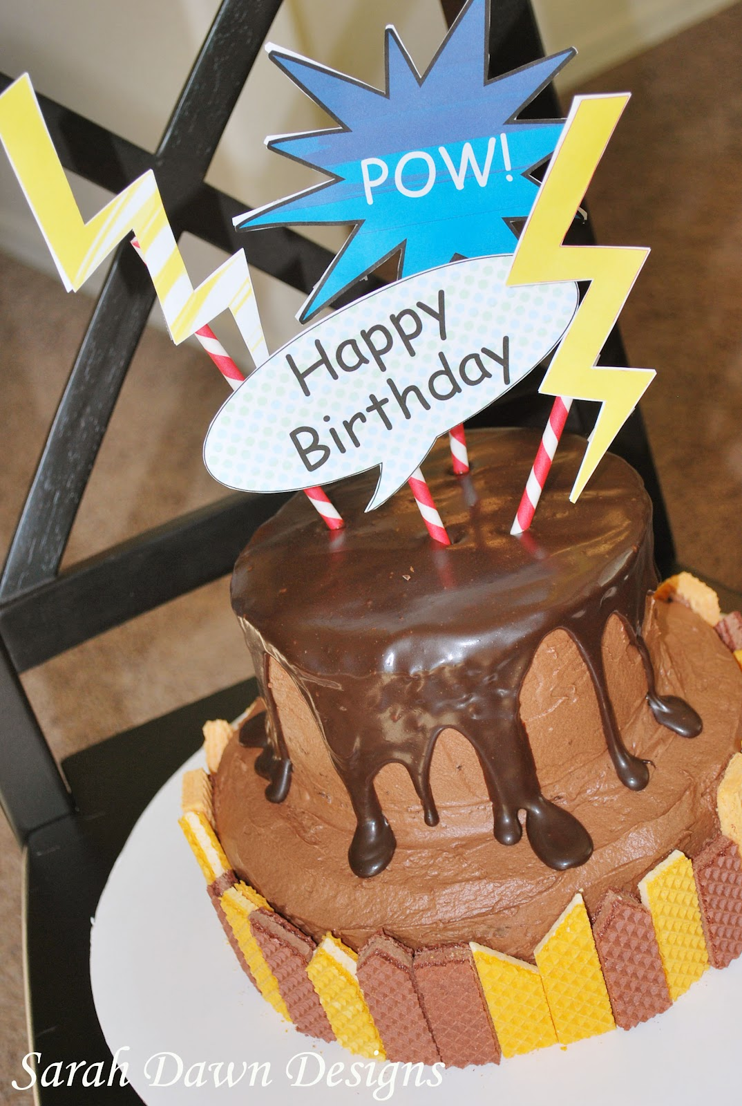 Sarah Dawn Designs Coolest Birthday Cake Superhero Style