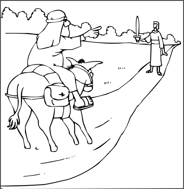 coloring book bible study coloring pages balaam and his ass - Books Bible Coloring Pages