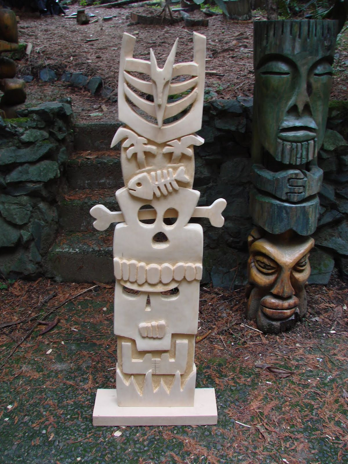 "Also carved on ""Mr. Devlin's Luau."""