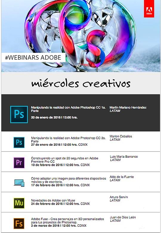 Cursos gratis con Adobe Latinoamérica #WebinarsAdobe