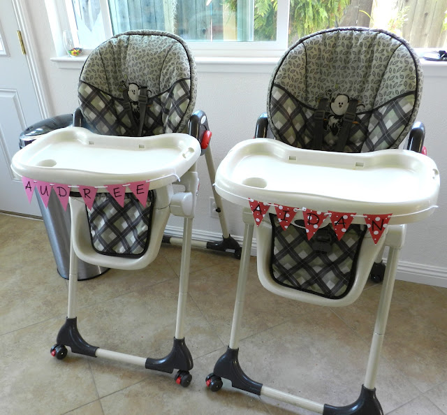 Sesame Street Twins Birthday: High Chairs