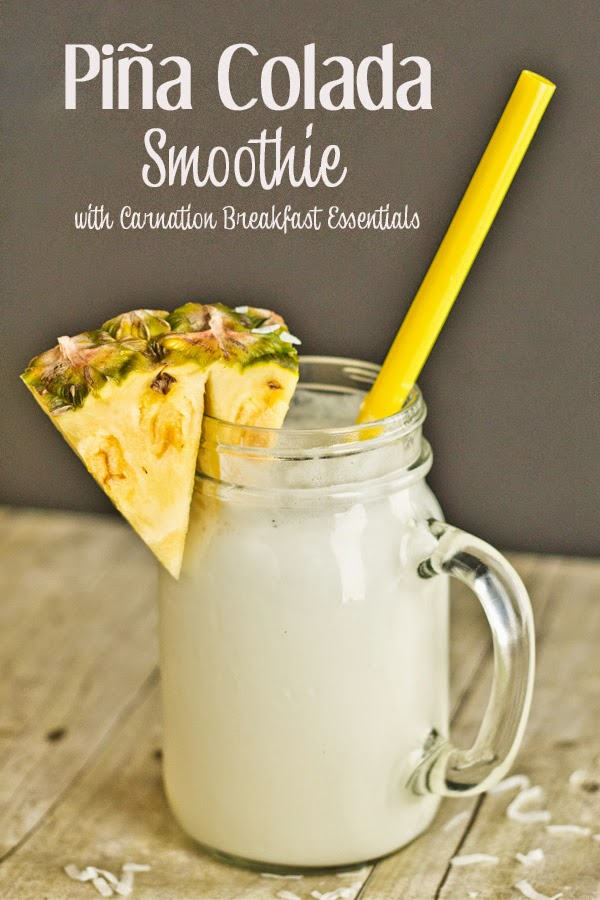 Pina Colada Smoothie with Carnation breakfast www.freetimefrolics.com