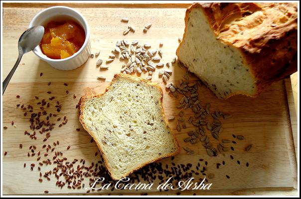 pan de semillas de lino