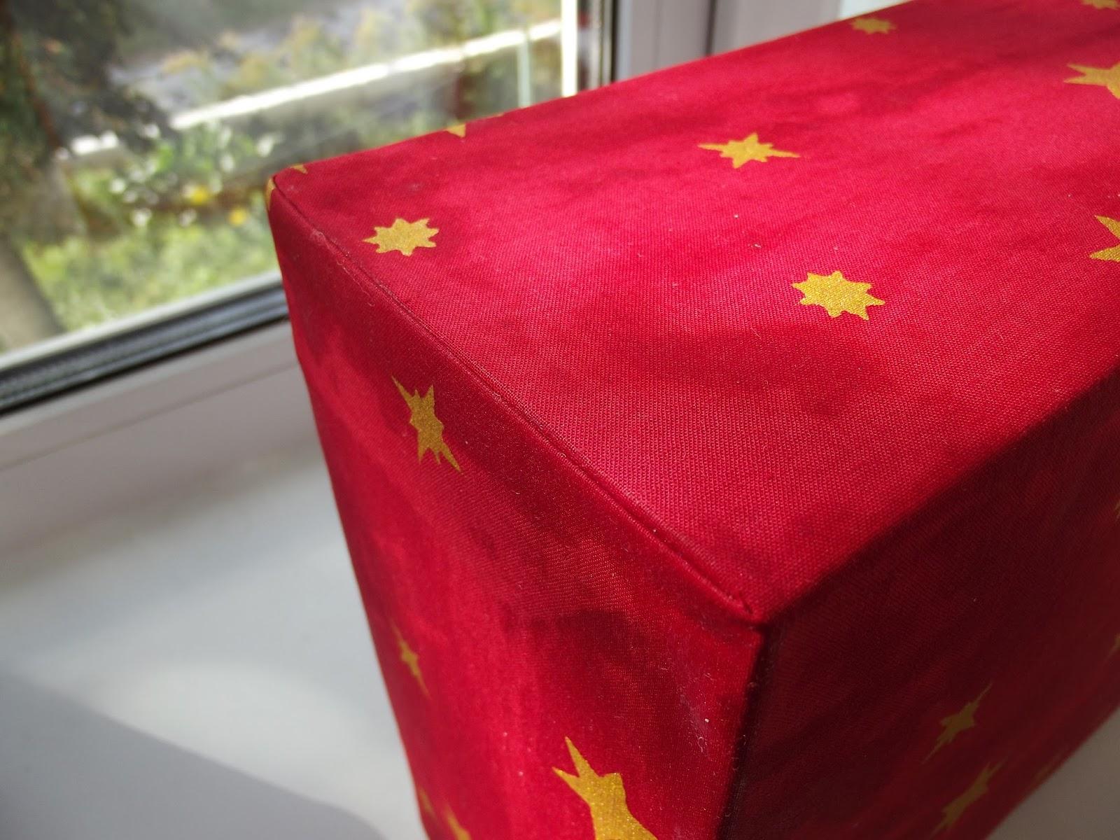 Как обтягивать коробку тканью мастер класс