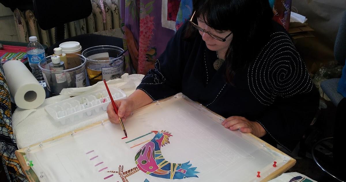 Hellenne vermillion art silk classes for Painting classes ct