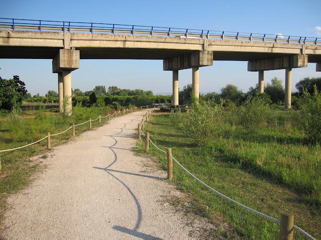 Sender baix del pont de la carretera del Grau de Gandia