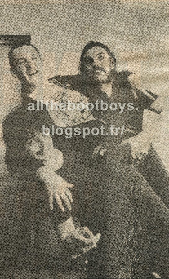 Lemmy , Philthy Animal Taylor motorhead skinhead fan 1980