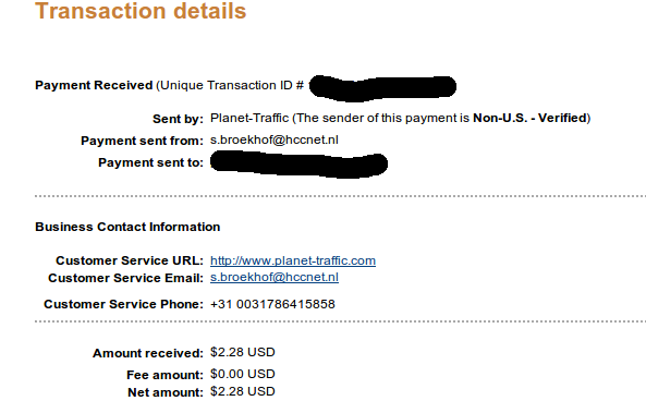 Securelly posting a payment proof