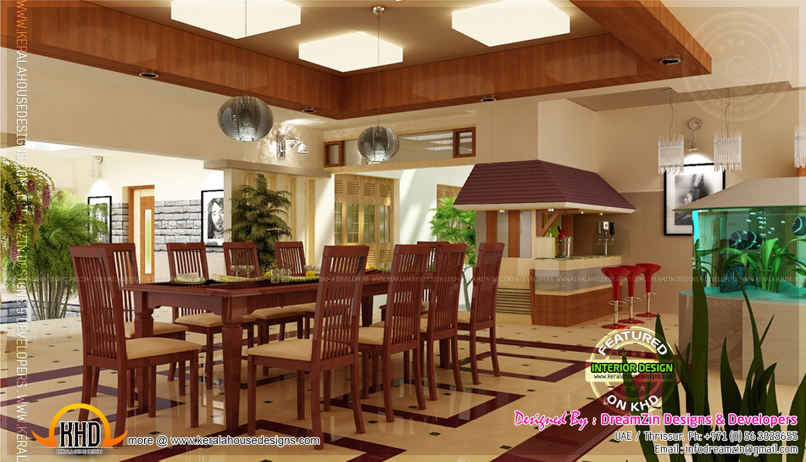 Interior designs by dreamzin designs uae and kerala for Kerala homes interior designs